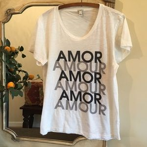 J. Crew Amour Collectors Tee, White, XL